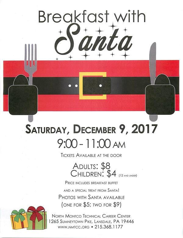 BREAKFAST WITH SANTA - DECEMBER 9